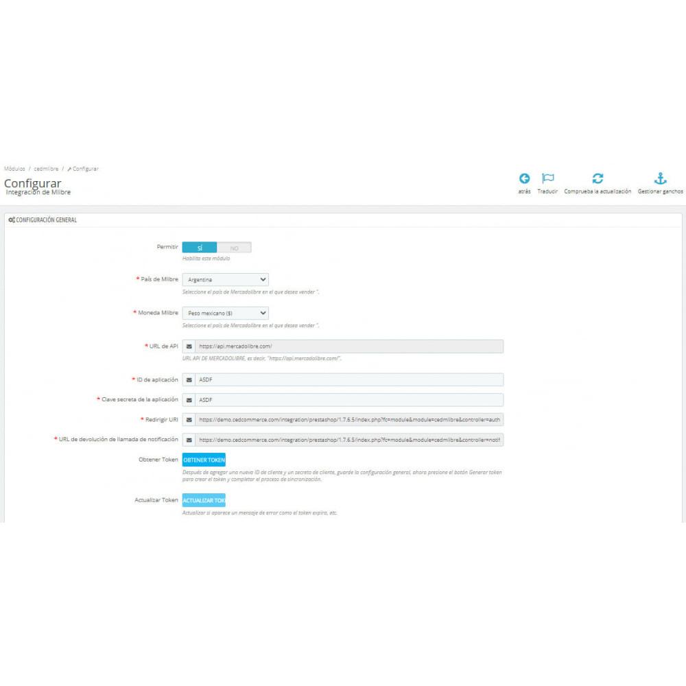 module - Integración con CRM, ERP... - CedCommerce MercadoLibre Integration - 1