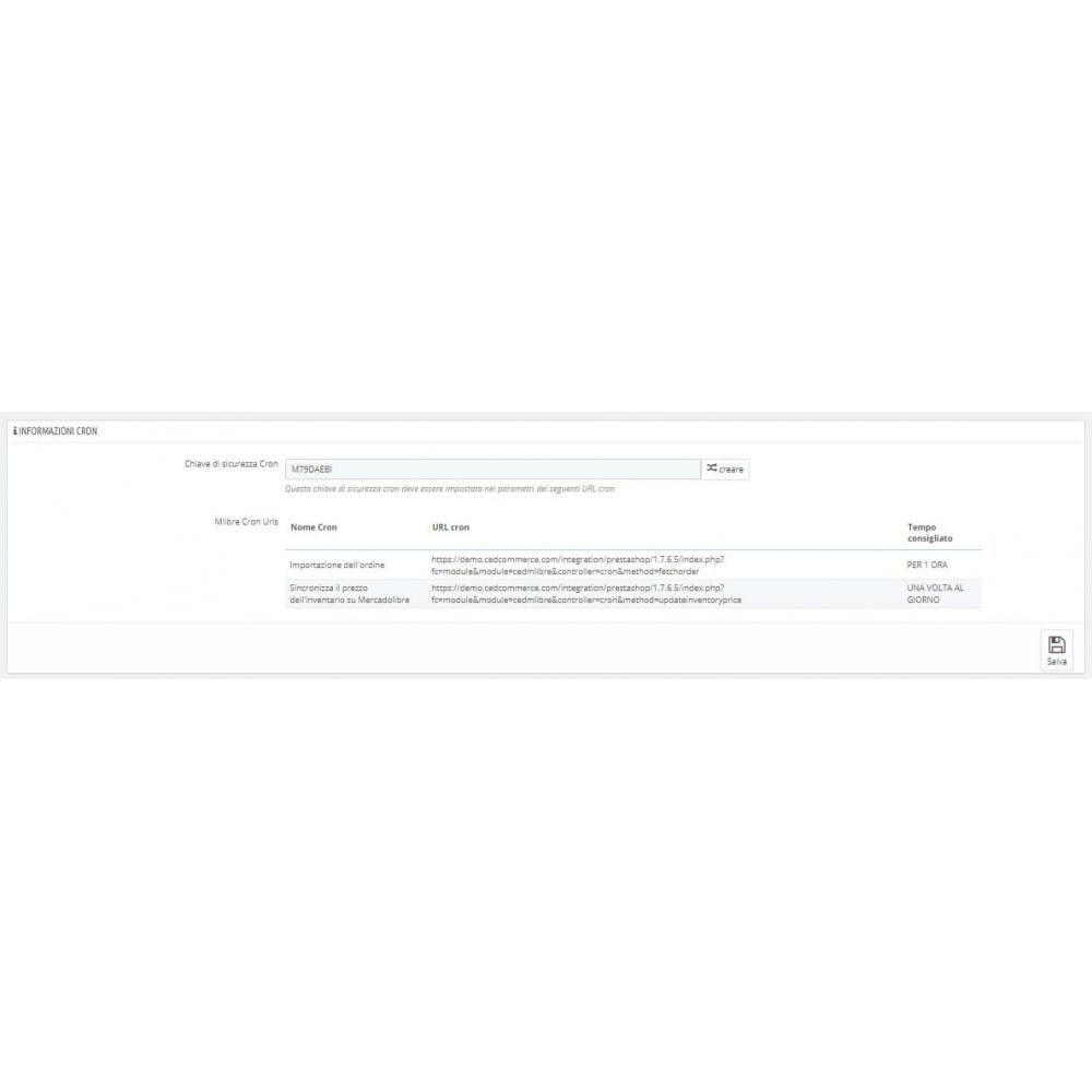 module - Integrazione (CRM, ERP...) - CedCommerce MercadoLibre Integration - 4