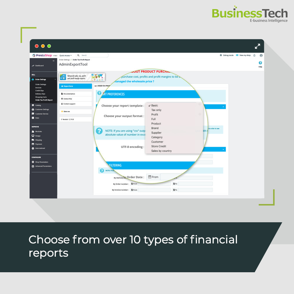module - Analyses & Statistieken - Sales Reports Pro - Accounting Exports - 2