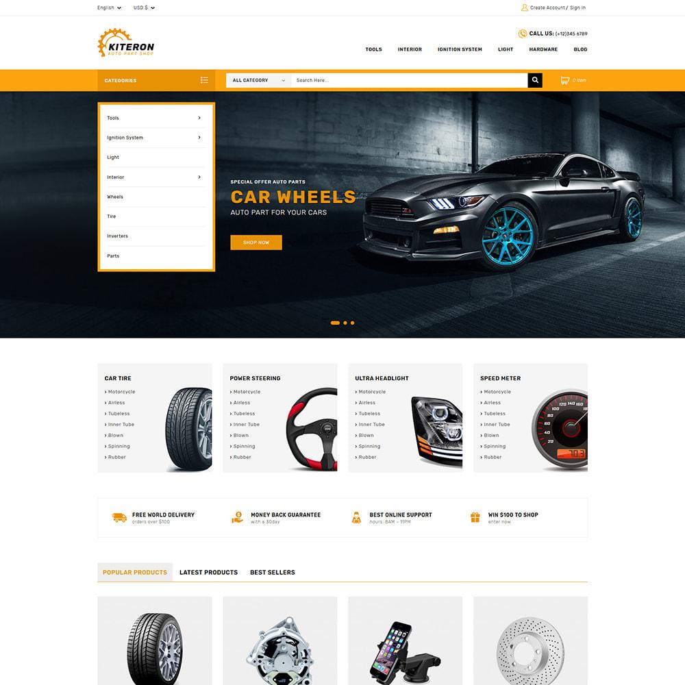 theme - Carros & Motos - Kiteron Automotive Shop - 1