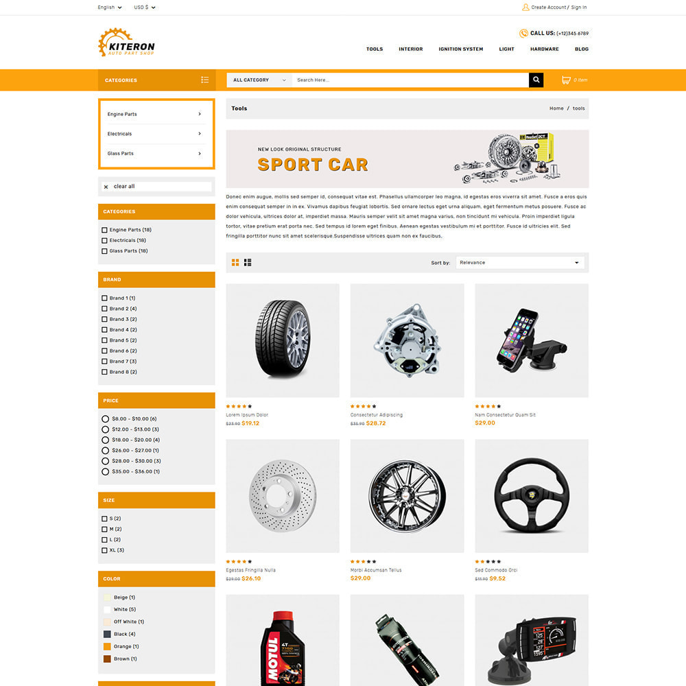 theme - Carros & Motos - Kiteron Automotive Shop - 2