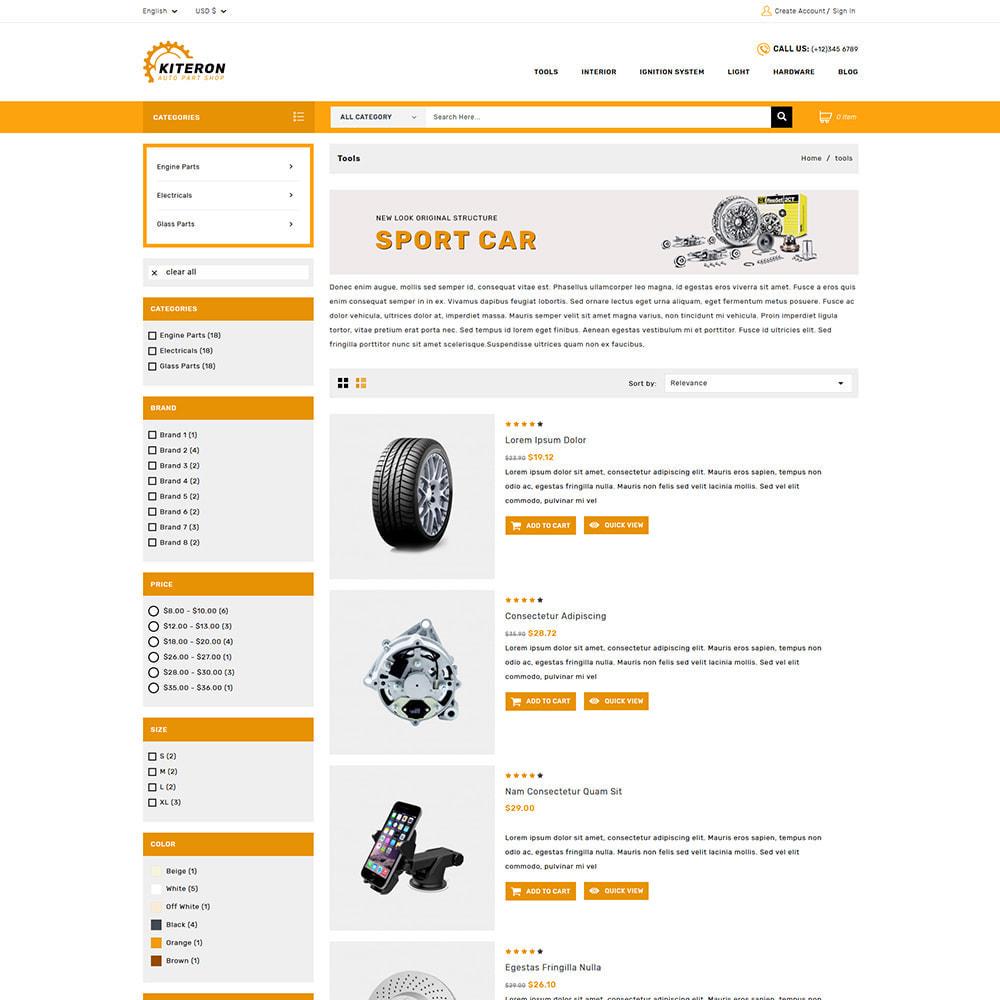 theme - Carros & Motos - Kiteron Automotive Shop - 3