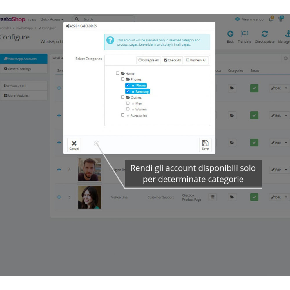 module - Supporto & Chat online - WhatsApp Live Chat Pro - 6