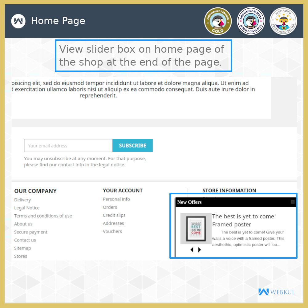 module - Gestão dos Produtos na Página Inicial - Page End Slidebox - 3