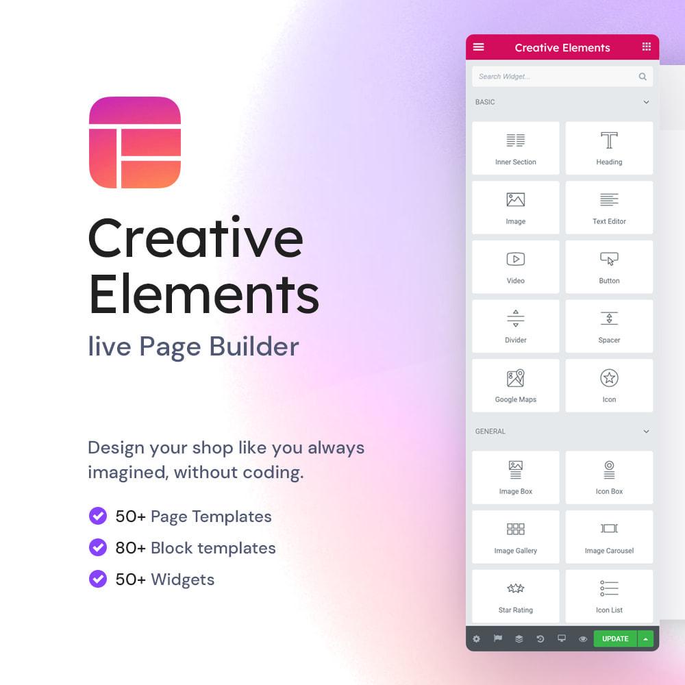 module - Administratieve tools - Creative Elements - live PageBuilder - 1
