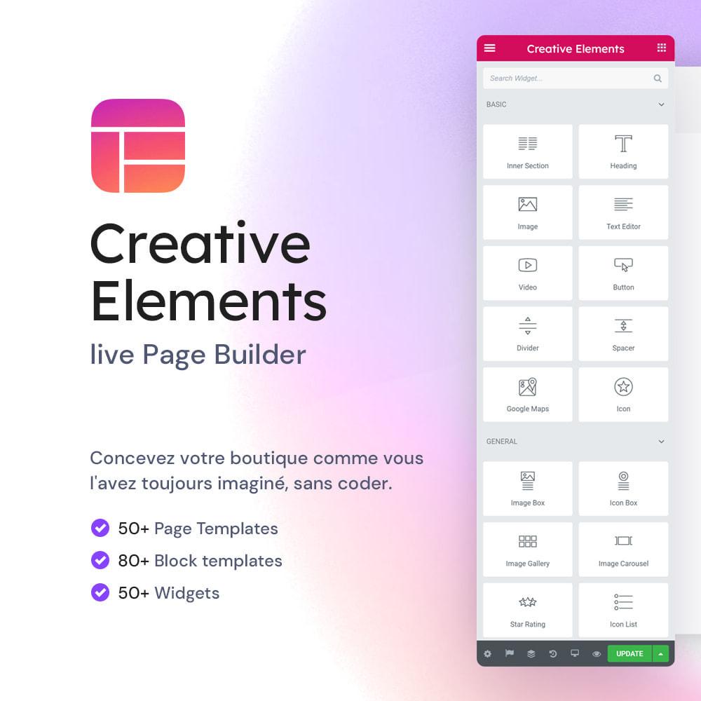 module - Outils d'administration - Creative Elements - live PageBuilder - 1