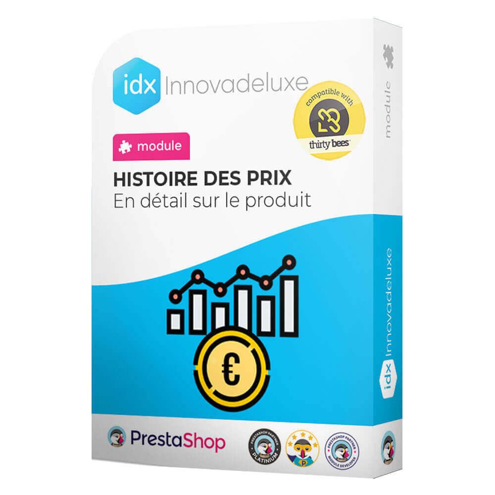 module - Gestion des Prix - Historique des prix sur la page du produit - 1