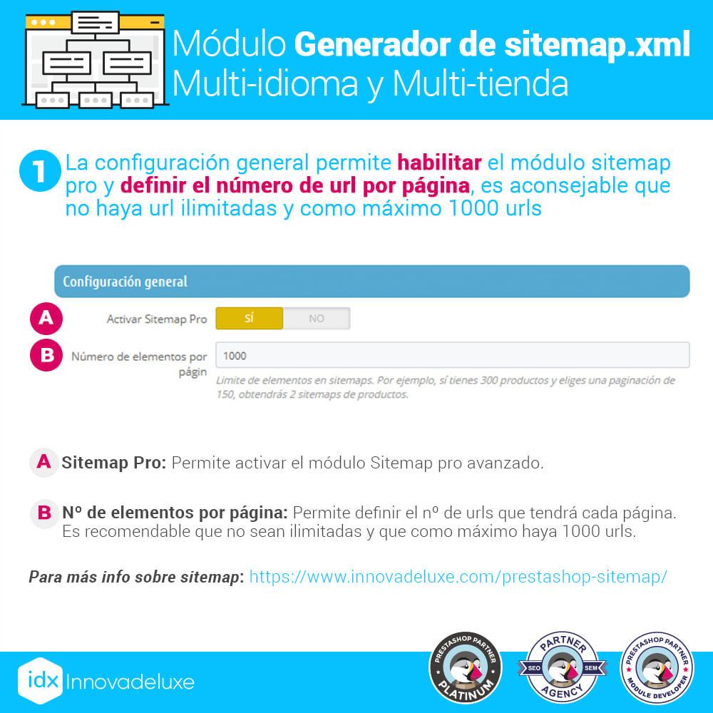 module - SEO (Posicionamiento en buscadores) - Generador de sitemap.xml multi-idioma y multi-tienda - 2