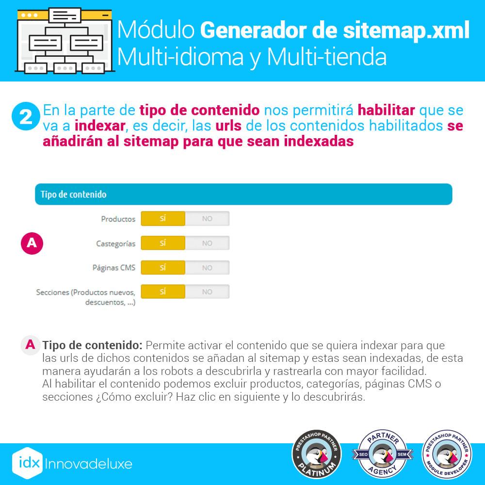 module - SEO (Posicionamiento en buscadores) - Generador de sitemap.xml multi-idioma y multi-tienda - 3