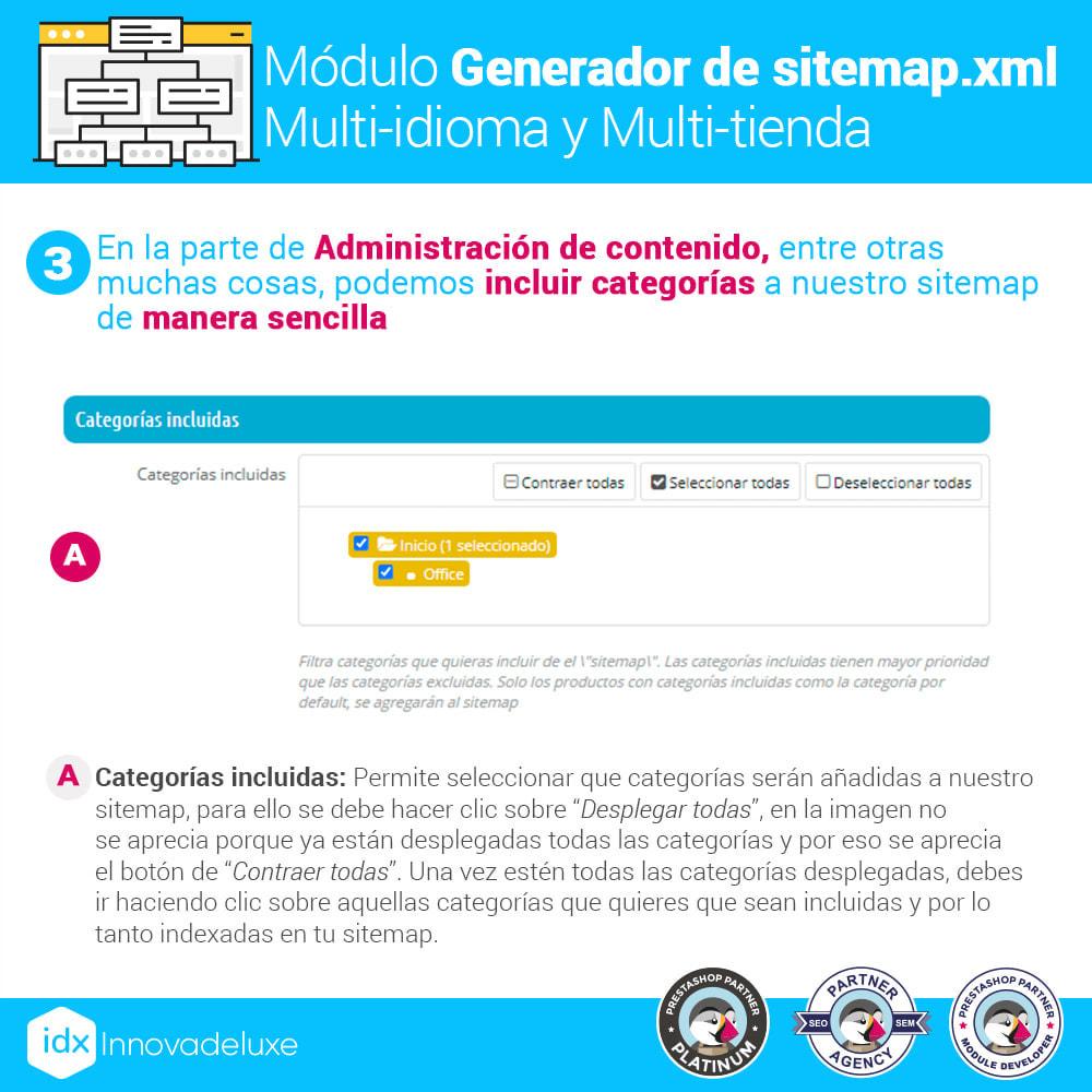module - SEO (Posicionamiento en buscadores) - Generador de sitemap.xml multi-idioma y multi-tienda - 4