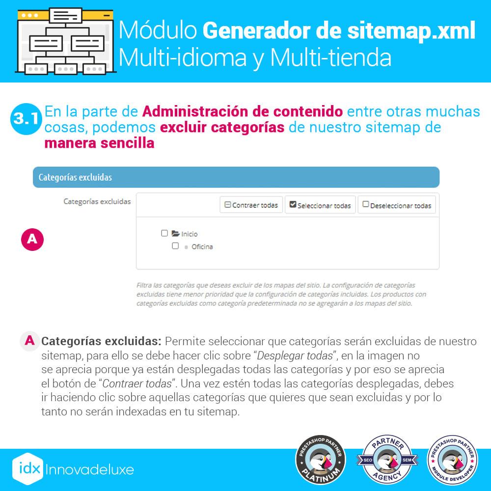 module - SEO (Posicionamiento en buscadores) - Generador de sitemap.xml multi-idioma y multi-tienda - 5