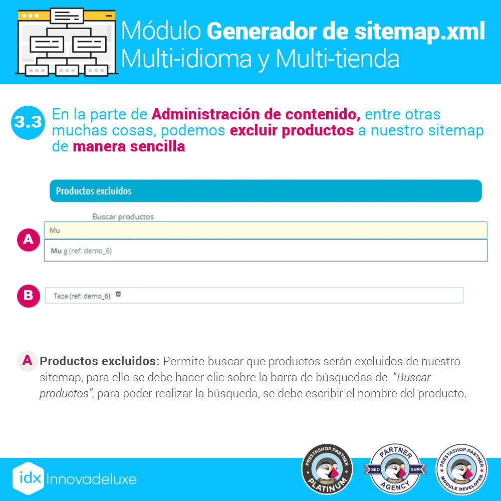 module - SEO (Posicionamiento en buscadores) - Generador de sitemap.xml multi-idioma y multi-tienda - 7
