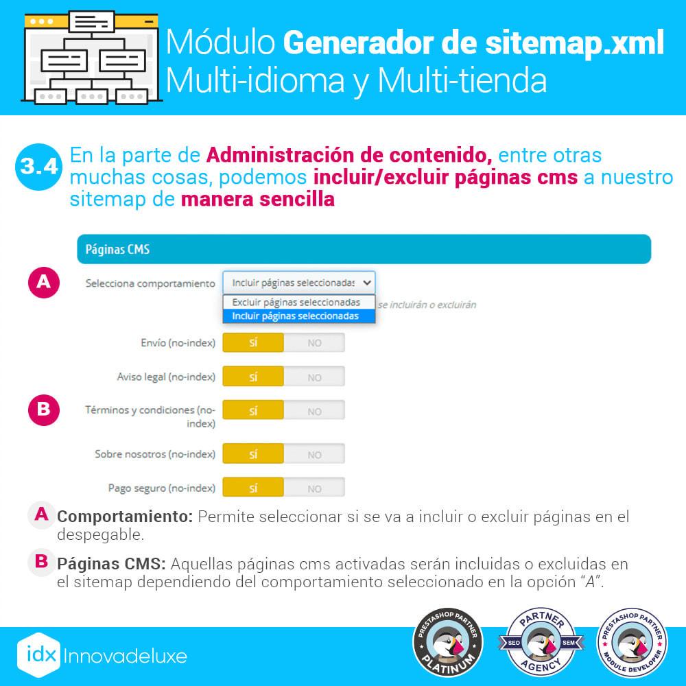 module - SEO (Posicionamiento en buscadores) - Generador de sitemap.xml multi-idioma y multi-tienda - 8