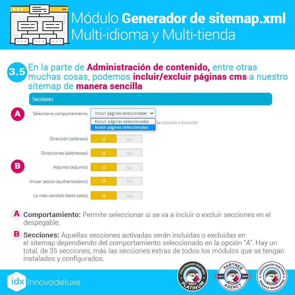 module - SEO (Posicionamiento en buscadores) - Generador de sitemap.xml multi-idioma y multi-tienda - 9