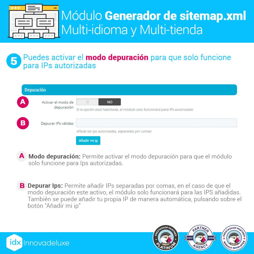 module - SEO (Posicionamiento en buscadores) - Generador de sitemap.xml multi-idioma y multi-tienda - 10