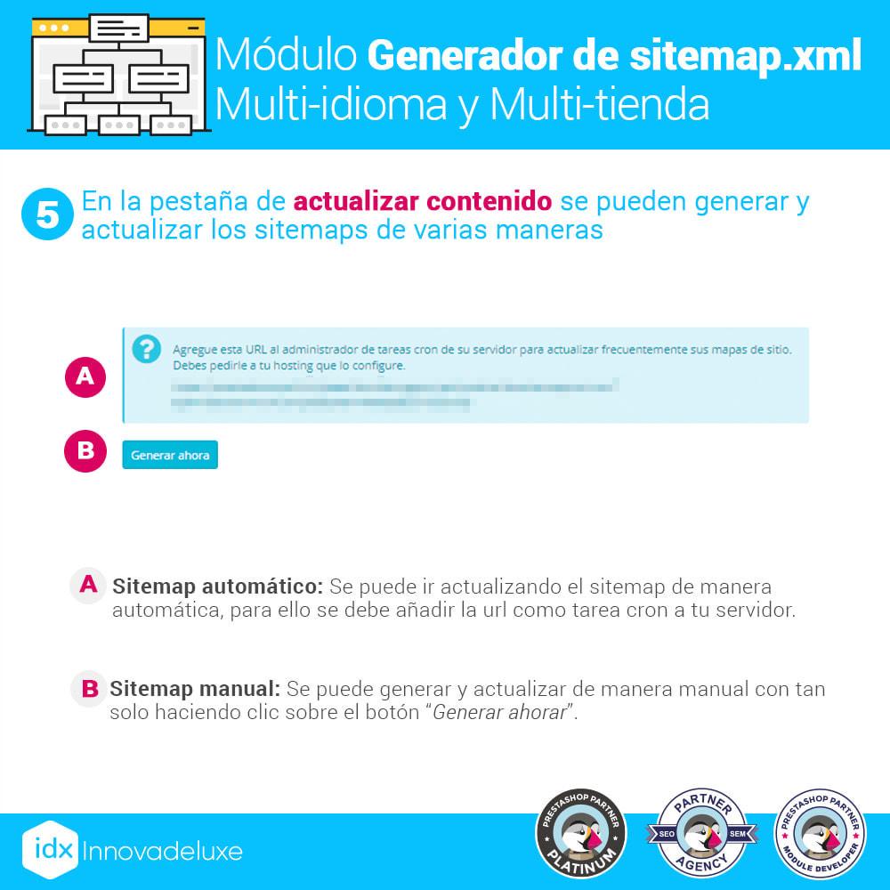 module - SEO (Posicionamiento en buscadores) - Generador de sitemap.xml multi-idioma y multi-tienda - 11
