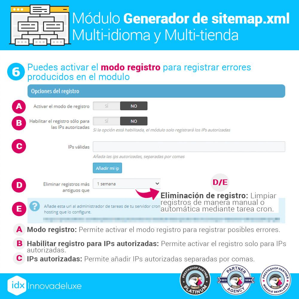 module - SEO (Posicionamiento en buscadores) - Generador de sitemap.xml multi-idioma y multi-tienda - 12
