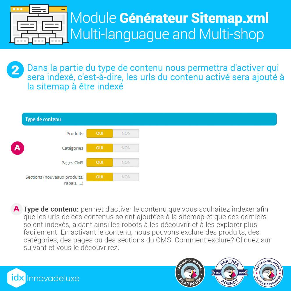 module - SEO (référencement naturel) - Générateur de sitemap.xml multilangue et multiboutique - 2