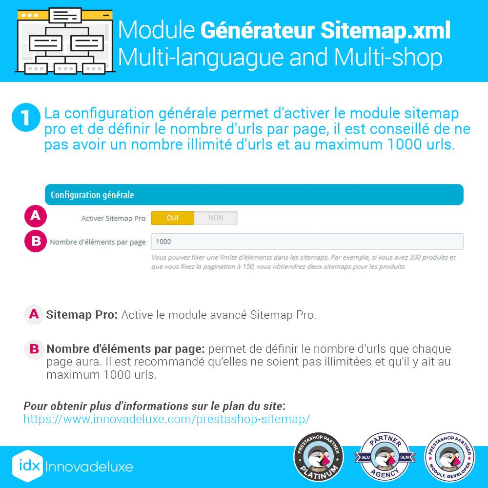 module - SEO (référencement naturel) - Générateur de sitemap.xml multilangue et multiboutique - 3