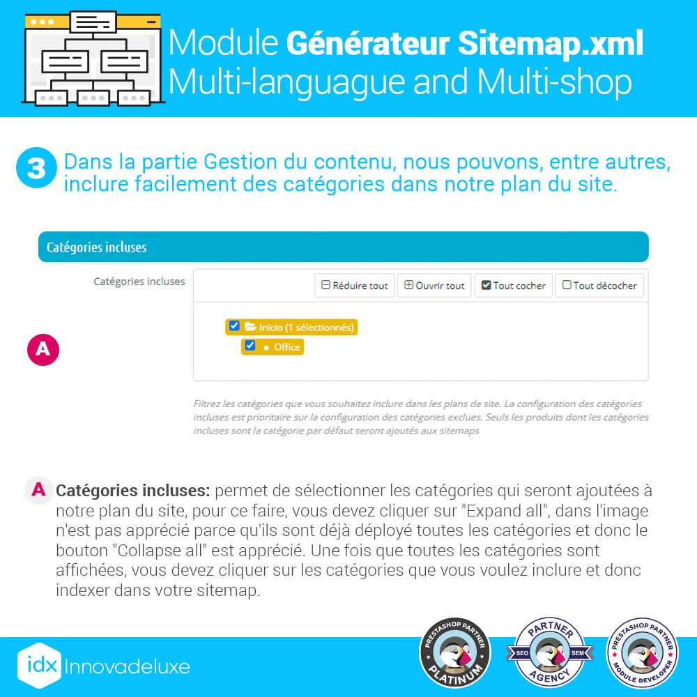 module - SEO (référencement naturel) - Générateur de sitemap.xml multilangue et multiboutique - 4