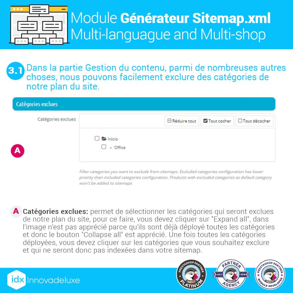 module - SEO (référencement naturel) - Générateur de sitemap.xml multilangue et multiboutique - 5