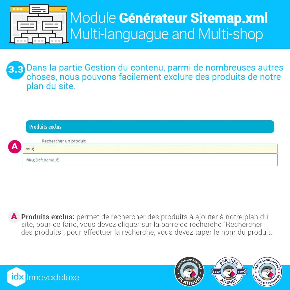 module - SEO (référencement naturel) - Générateur de sitemap.xml multilangue et multiboutique - 7