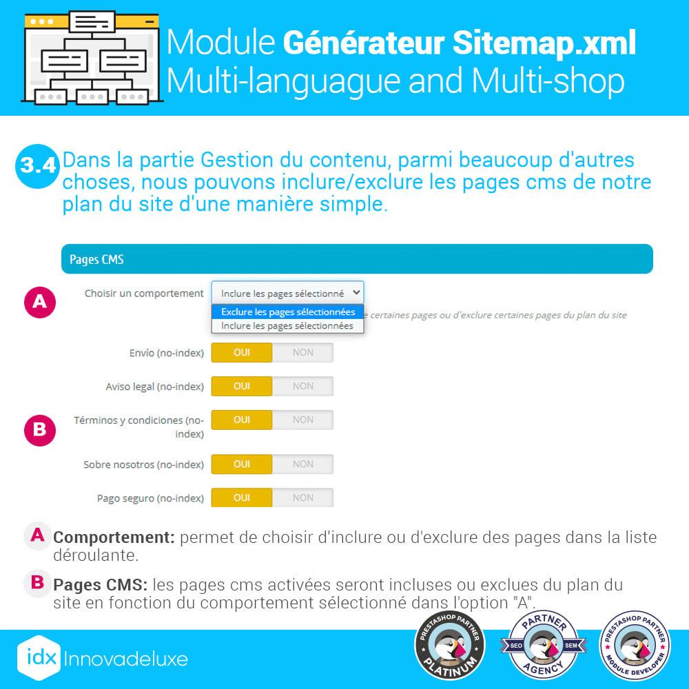 module - SEO (référencement naturel) - Générateur de sitemap.xml multilangue et multiboutique - 8
