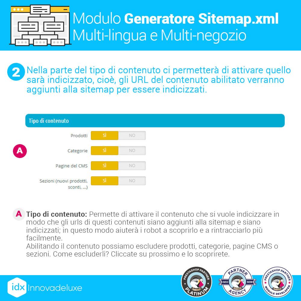 module - SEO (Indicizzazione naturale) - Generatore di sitemap.xml multilingua e multistore - 3