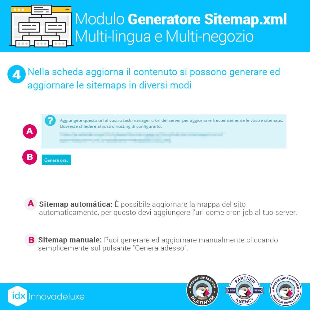 module - SEO (Indicizzazione naturale) - Generatore di sitemap.xml multilingua e multistore - 10