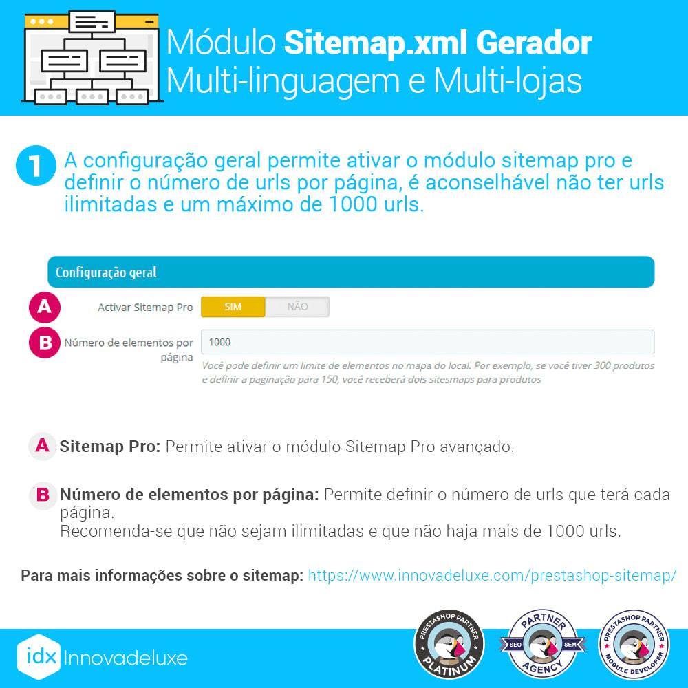 module - SEO (Referenciamento natural) - Gerador de sitemap.xml multi-idioma e de multi-loja - 2