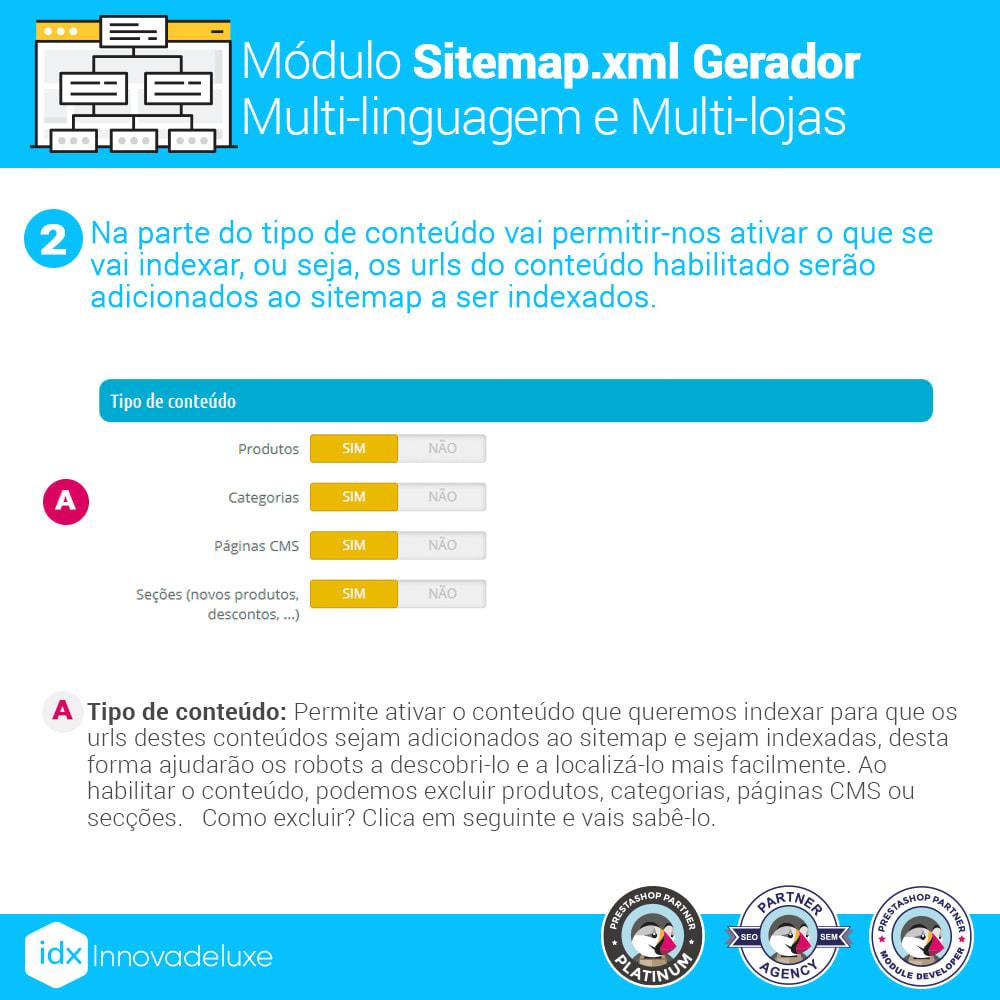 module - SEO (Referenciamento natural) - Gerador de sitemap.xml multi-idioma e de multi-loja - 3