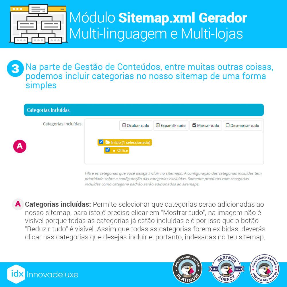 module - SEO (Referenciamento natural) - Gerador de sitemap.xml multi-idioma e de multi-loja - 4