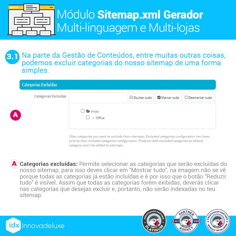 module - SEO (Referenciamento natural) - Gerador de sitemap.xml multi-idioma e de multi-loja - 5