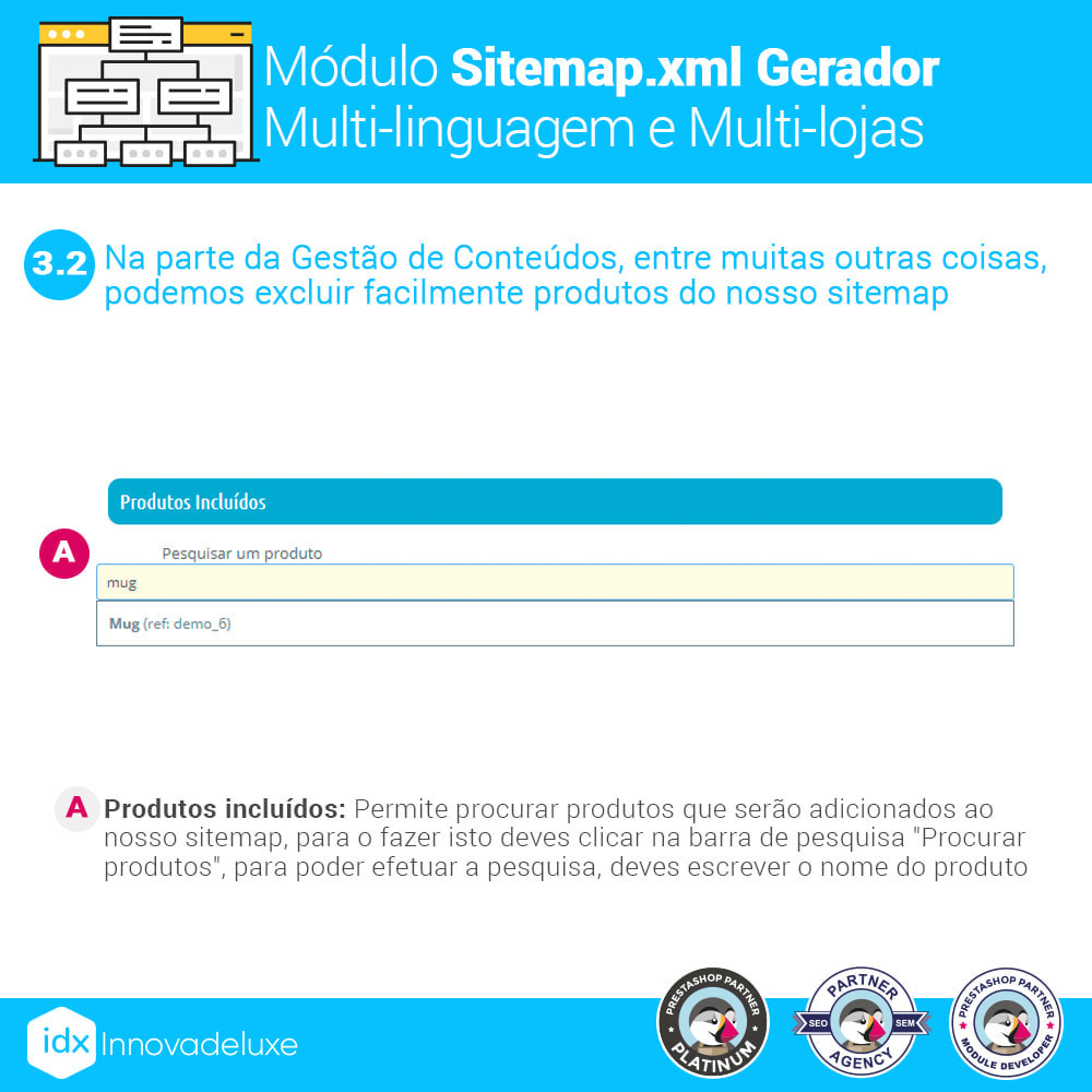 module - SEO (Referenciamento natural) - Gerador de sitemap.xml multi-idioma e de multi-loja - 6