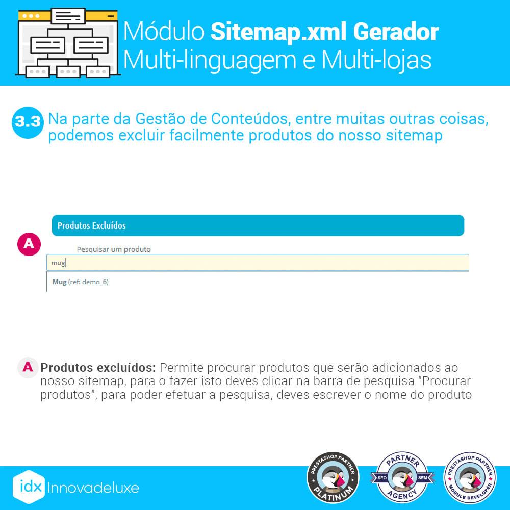 module - SEO (Referenciamento natural) - Gerador de sitemap.xml multi-idioma e de multi-loja - 7