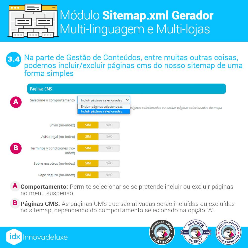 module - SEO (Referenciamento natural) - Gerador de sitemap.xml multi-idioma e de multi-loja - 8