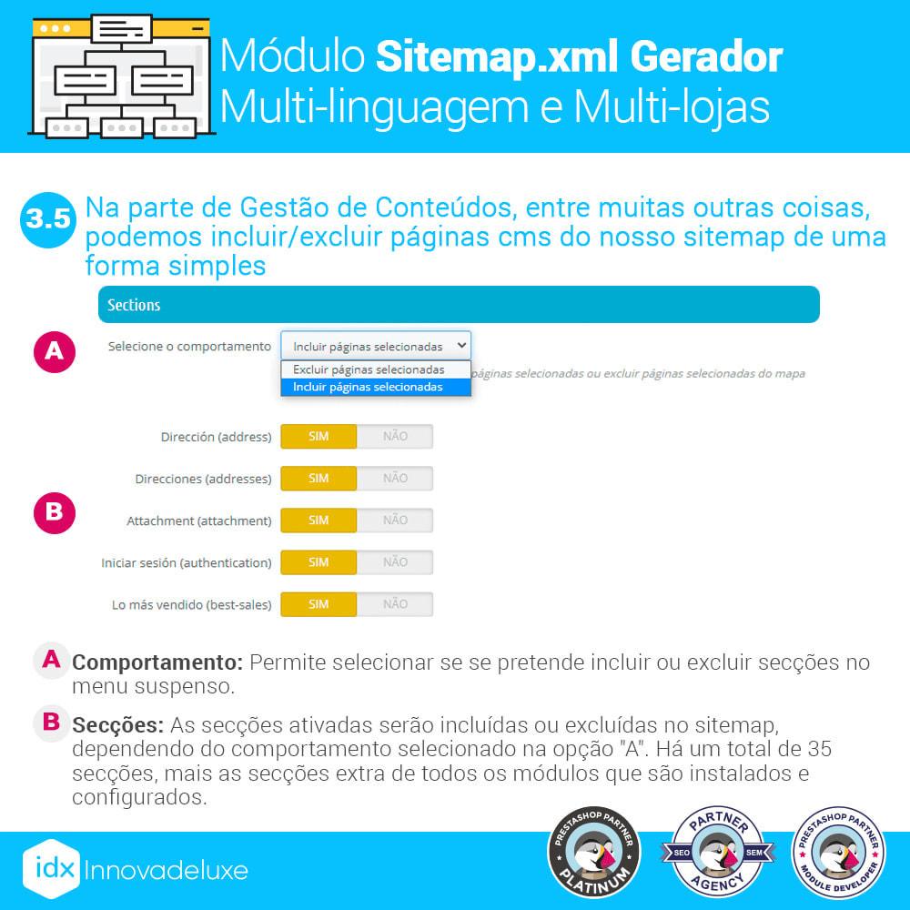 module - SEO (Referenciamento natural) - Gerador de sitemap.xml multi-idioma e de multi-loja - 9