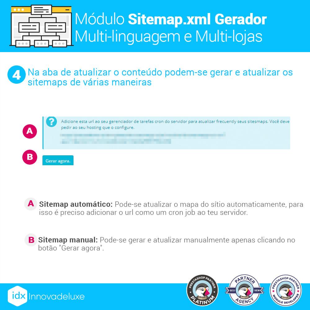 module - SEO (Referenciamento natural) - Gerador de sitemap.xml multi-idioma e de multi-loja - 10