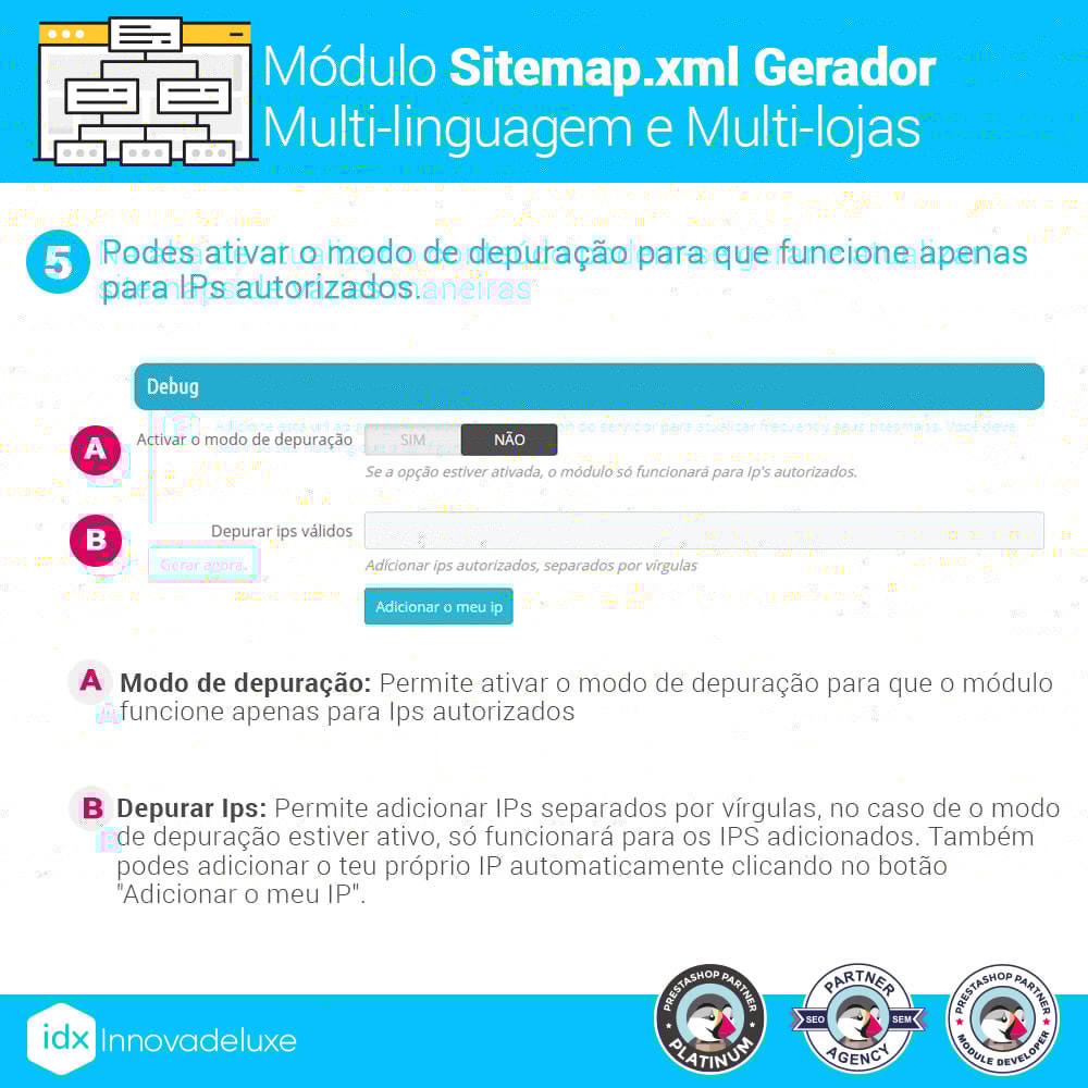 module - SEO (Referenciamento natural) - Gerador de sitemap.xml multi-idioma e de multi-loja - 11