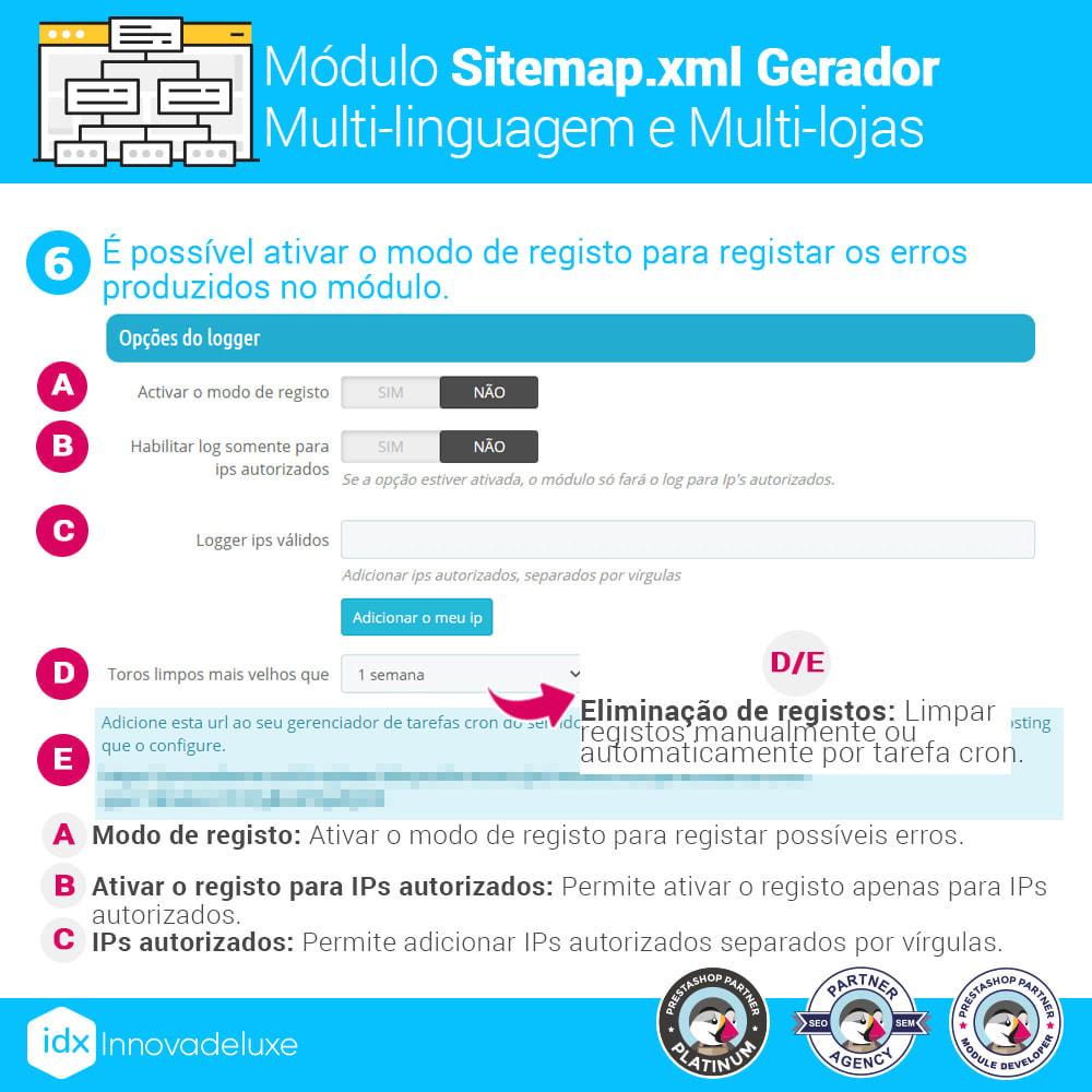module - SEO (Referenciamento natural) - Gerador de sitemap.xml multi-idioma e de multi-loja - 12