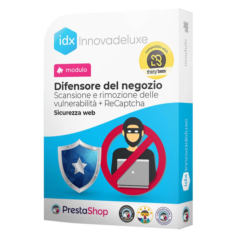 module - Strumenti per l'amministrazione - Store Defender (Rimozione malware + Firewall) - 1