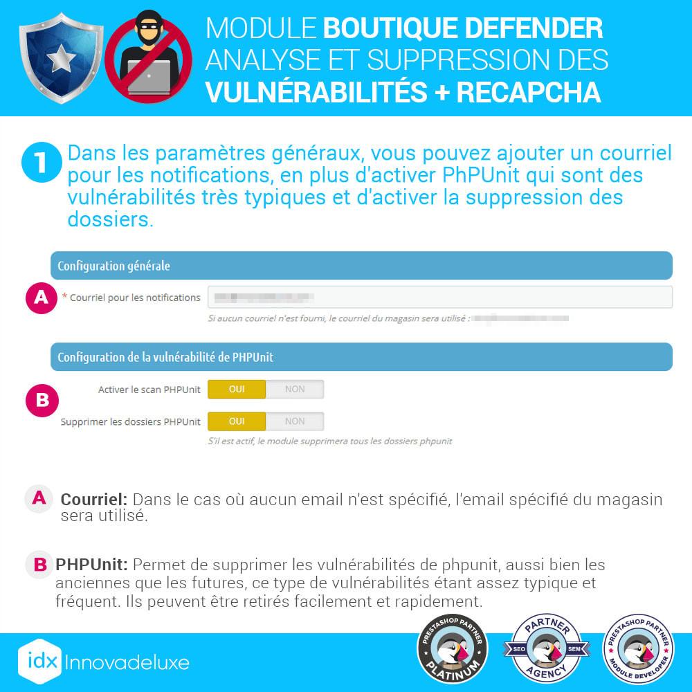 module - Administration du site - Store Defender (suppression de malware + pare-feu) - 2