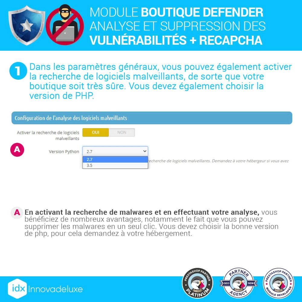 module - Administration du site - Store Defender (suppression de malware + pare-feu) - 4