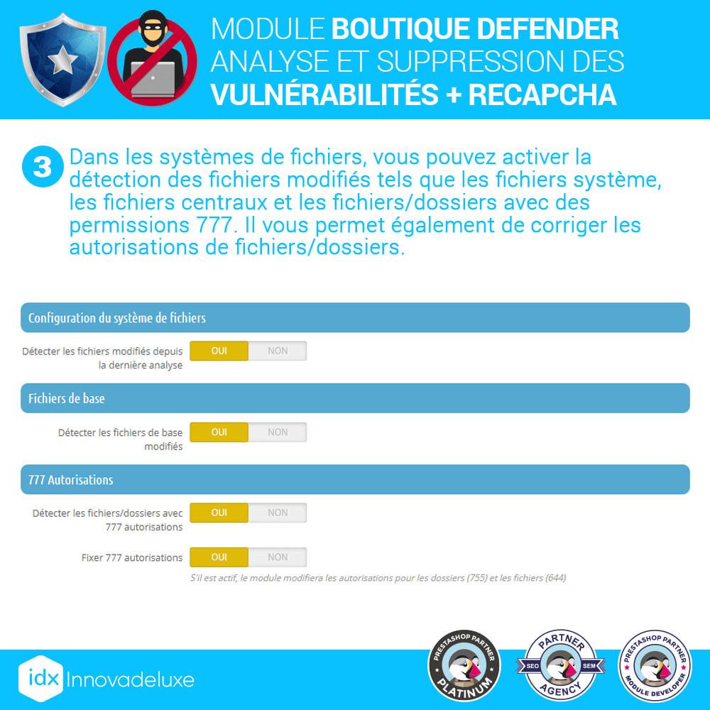 module - Administration du site - Store Defender (suppression de malware + pare-feu) - 6