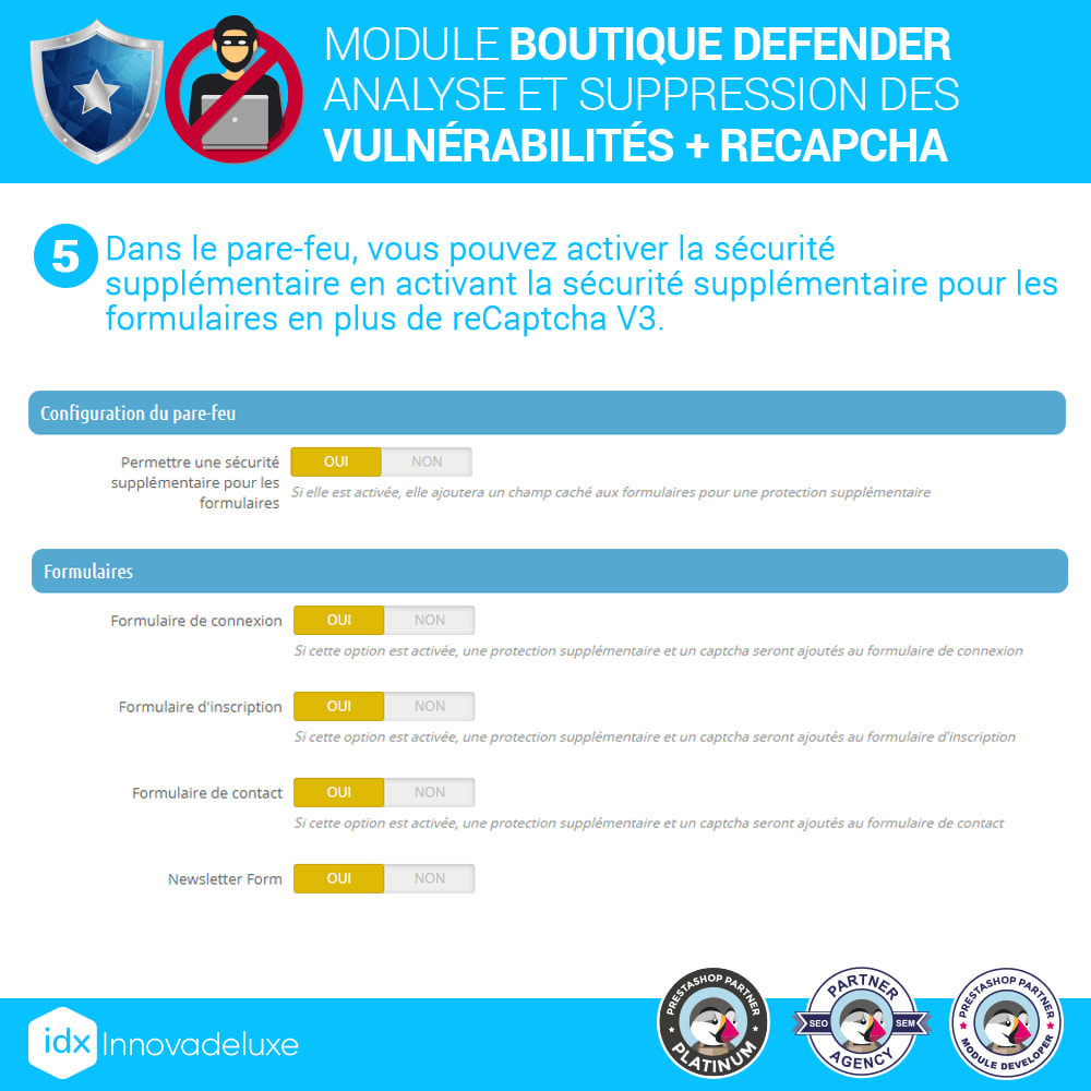 module - Administration du site - Store Defender (suppression de malware + pare-feu) - 9