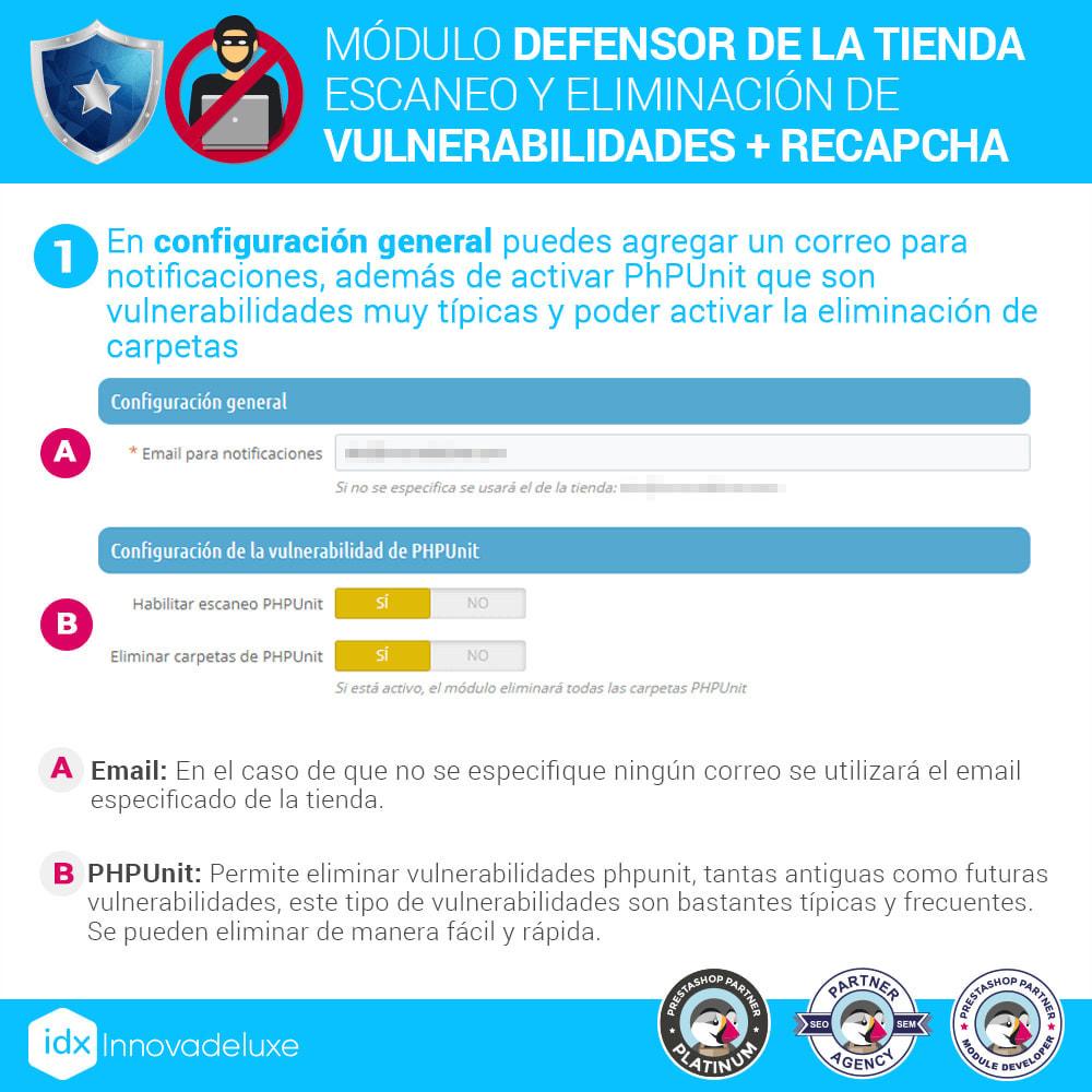 module - Administración del sitio - Defensor de la tienda (Eliminar malware + Cortafuegos) - 2