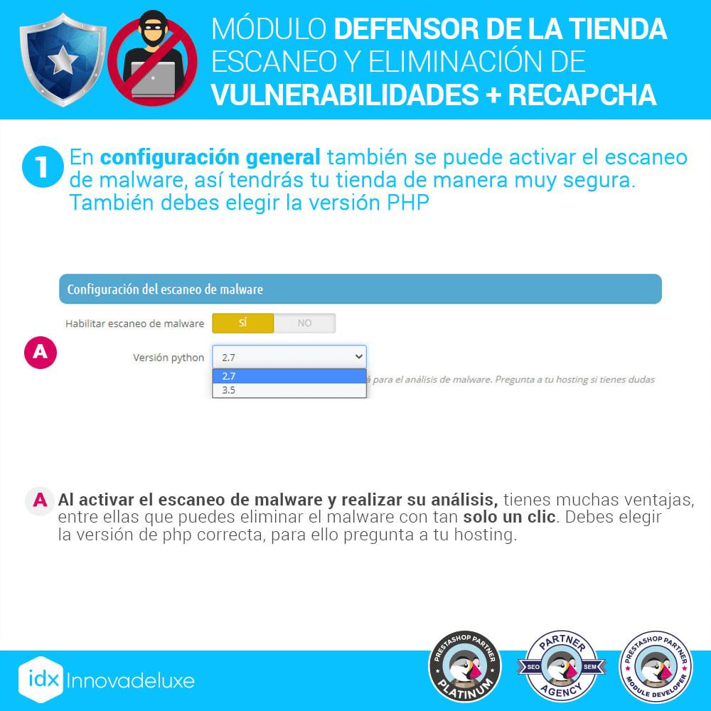 module - Administración del sitio - Defensor de la tienda (Eliminar malware + Cortafuegos) - 4