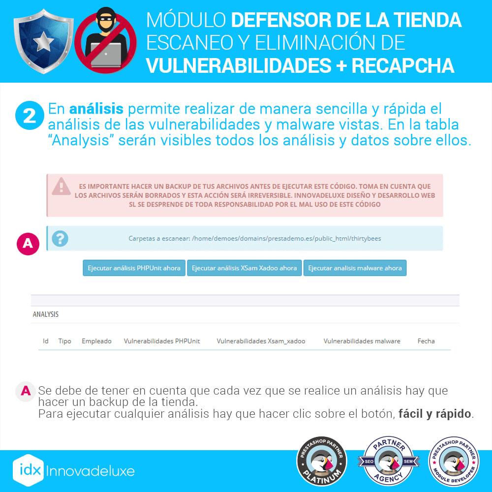 module - Administración del sitio - Defensor de la tienda (Eliminar malware + Cortafuegos) - 5