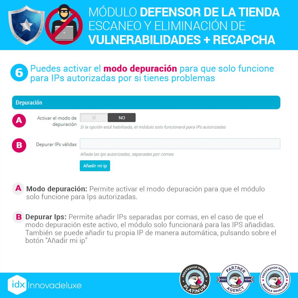 module - Administración del sitio - Defensor de la tienda (Eliminar malware + Cortafuegos) - 10