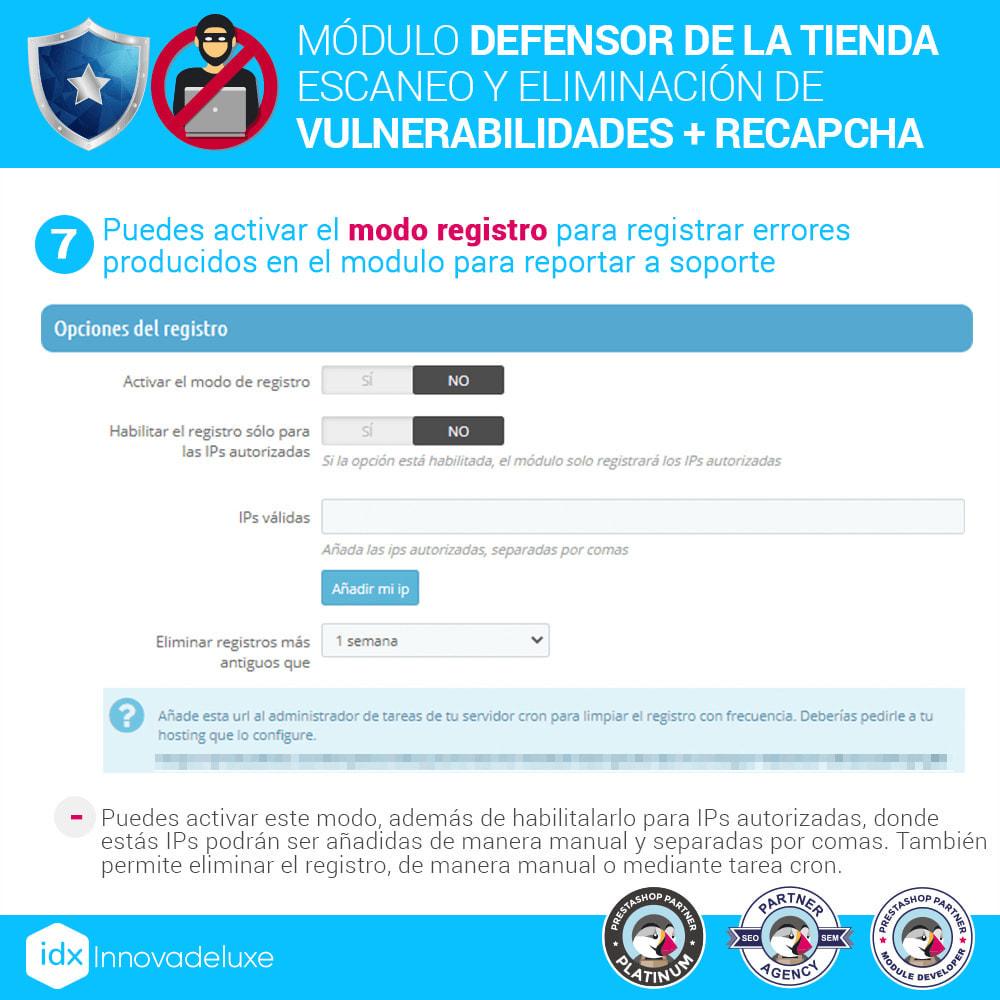 module - Administración del sitio - Defensor de la tienda (Eliminar malware + Cortafuegos) - 11